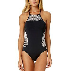 NWT Anne Cole Crochet High One Piece Swimsuit